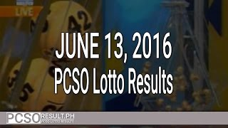 PCSO Lotto Results June 13, 2016 (6/55, 6/45, 4D, Swertres & EZ2)
