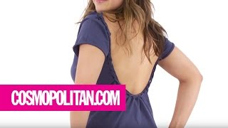 How to Turn Your Old T-Shirt into a Cool New Shirt   Cosmopolitan