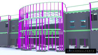 Buford High School Athletic Building Detailed w/ Tekla Structures