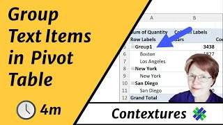 How to Group Text Items in an Excel Pivot Table