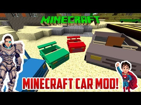 Minecraft: PERSONAL CAR MOD! Cars for Kids!