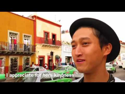 Dancer × Backpacker Shimon owaki , World travel 21 Guadalajara in Guanajato / México  (HD)