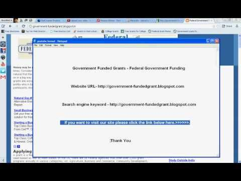 Government Funded Grants - Federal Government Funding