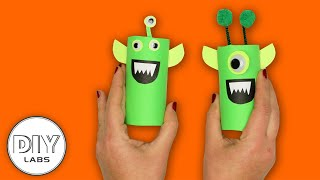 How to make an ALIEN using Paper Roll | Fast-n-Easy | DIY Labs