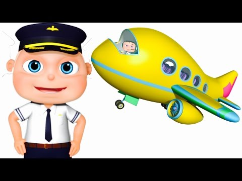 Five Little Babies Flying Airplane | Zool Babies Fun Songs |