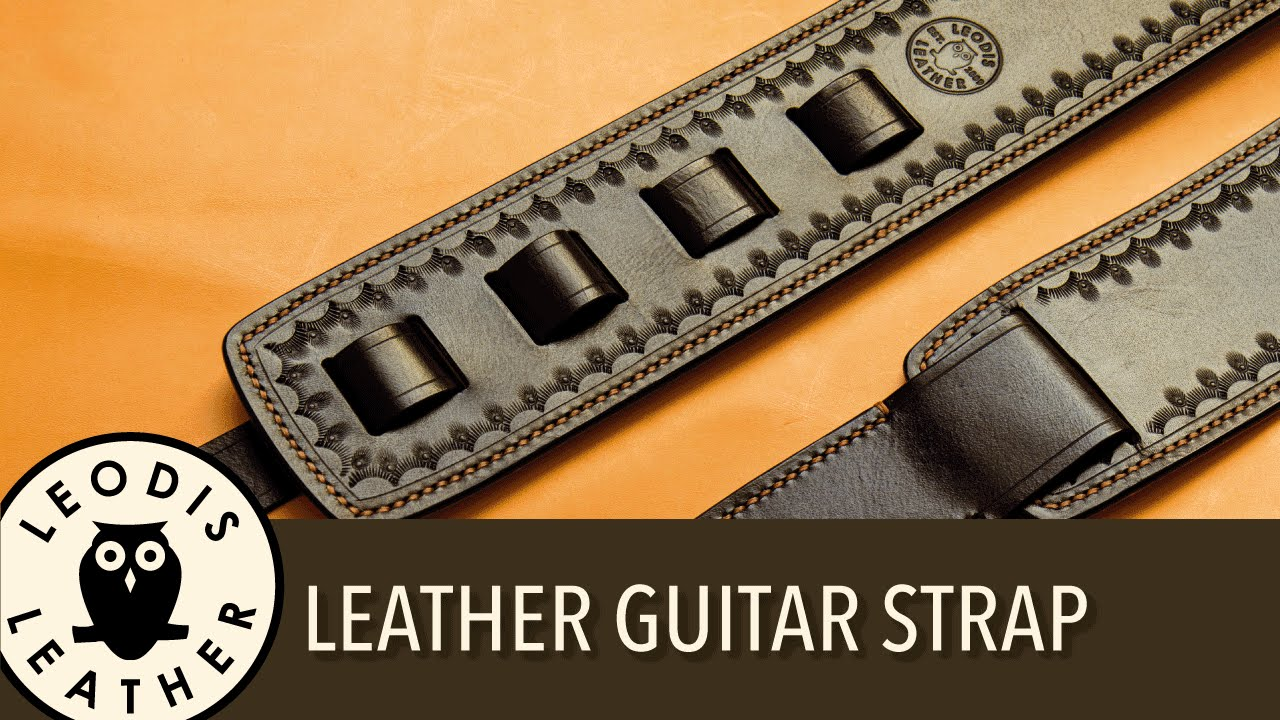 Making a Leather Guitar Strap - YouTube 9c8f04d0269ff