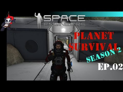 Space Engineers | Planet Survival - Season 2 | Ep 02 - Mining Base and Hangar Design