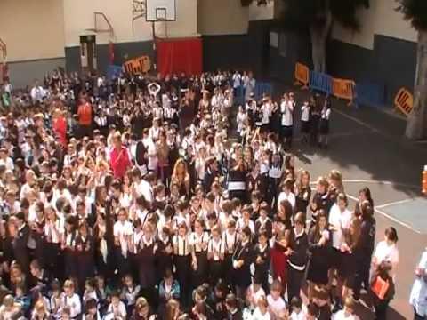 Impresionante homenaje a benedicto xvi colegio pureza de - Colegio aparejadores tenerife ...
