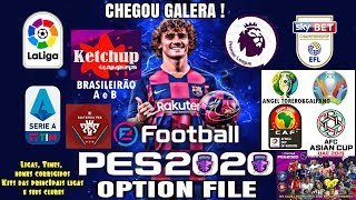 [PS4]eFootball PES2020 - OPTION FILE