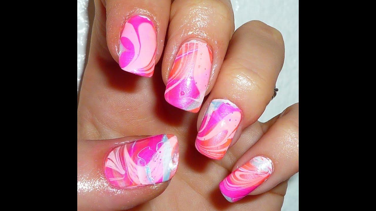 Triple dip water marble nail art design youtube prinsesfo Gallery