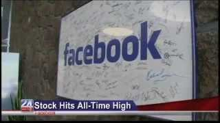 Facebook Stock Hits All Time High