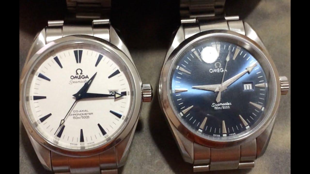 Omega Seamaster Aqua Terra 2503.33.00 White/Blue 2500 Co-axial (25033300) -  YouTube