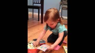2014-04-01 Presley Opening Package from Susie Thumbnail