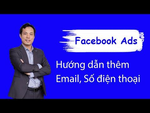 Hướng dẫn thêm Email, Số điện thoại vào Facebook