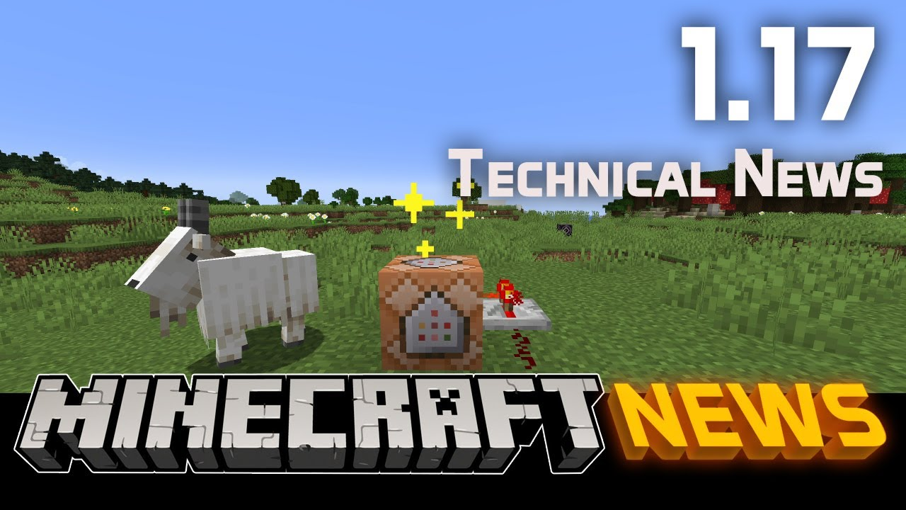 Technical News in Minecraft Java Edition 1.17 - The Caves & Cliffs Update Part I