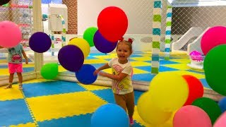 Funny baby play with animals Playground learn colour balls Nursery rhymes for kids Children songs
