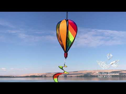Rainbow Striped NG Hot Air Balloon - In the Breeze Thumbnail