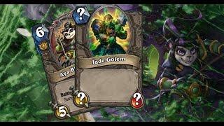 Hearthstone Mean Streets of Gadgetzan Jade Golem Druid | Best Hearthstone gameplay