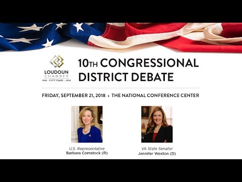 Comstock Wexton 10th Congressional District Debate 2018