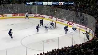 Sven Baertschi (#42) Canucks Debut Highlights vs. WPG (April 4, 2015)