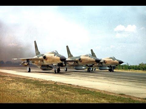 Republic F 105 Thunderchief in action during Vietnam