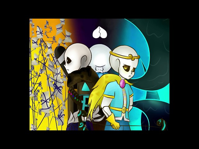 Speedpaint+Undertale+Underverse \new star sanses -ink, blueberry and dream-(?)//  read description