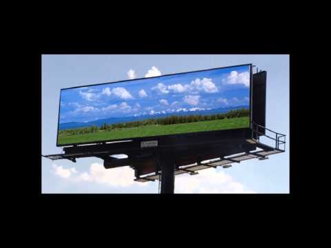 Charming Green Colorful Solar Energy - Advertising Billboard