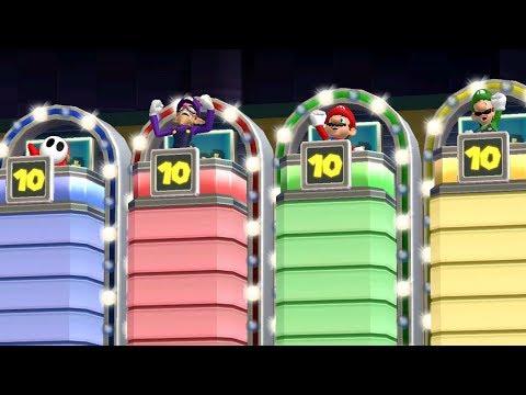 Mario Party 9 Step It Up - Shy Guy vs Waluigi vs Mario vs Luigi