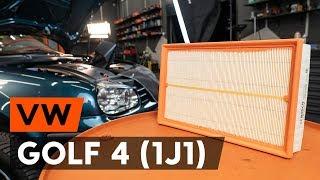 Kā nomainīt gaisa filtrs VW GOLF 4 (1J1) [AUTODOC VIDEOPAMĀCĪBA]