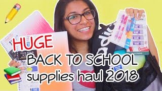 HUGE School Supplies Haul 2018!