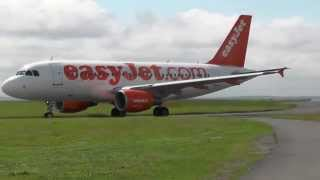 easyjet a319 111 g ezim takeoff from liverpool airport