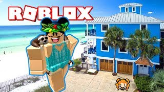 ROBLOX BLOXBURG BEACH HOUSE BUILD ON STILTS! NEW HOUSE BUILD FOR SUMMER with FUNNY MOMENTS!