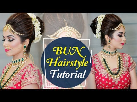 Bun Hairstyle Tutorial Step By Step Indian Bridal Hairstyle Tutorial Video Krushhh By Konica Youtube