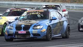 BMW e92 M3 and 1M turbo M50B30 Drifting in Brno circuit