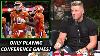 Pat McAfee Reacts To NCAA Football's Conference Only Schedule.