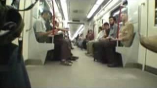 Tehran subway underground train