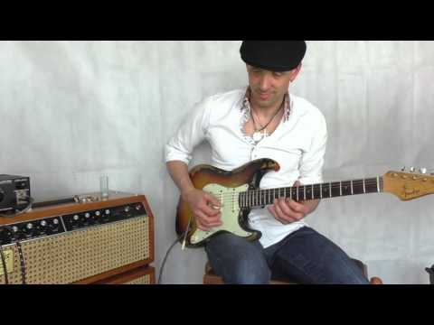 80ties Jim Kelley FACS amp with 1962 Fender Stratocaster