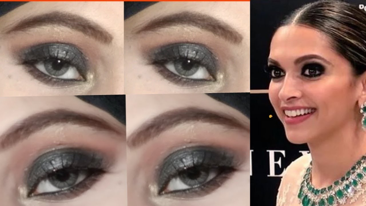 Deepika Padukone Smokey Eye Makeup Tutorial || Nida Raza ...