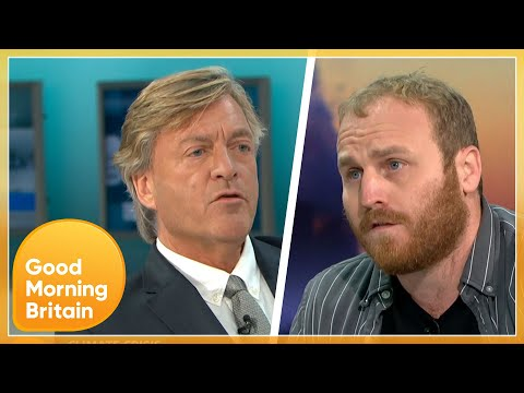 Richard Madeley Challenges Climate Activist That Brought M25 To Stand Still   Good Morning Britain