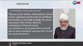 Müslüman Ahmediye Cemaati başkanının Covid-19 pandemisi hakkındaki açıklaması
