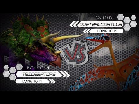 Triceratops VS Quetzalcoatlus Dinosaurs Colosseum Battle