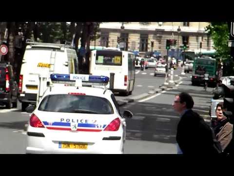 Paris France Police Nationale Boulevard Saint Michel