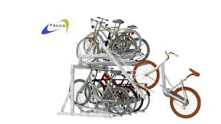 Animatie FalcoLevel Eco etage-fietsenrek