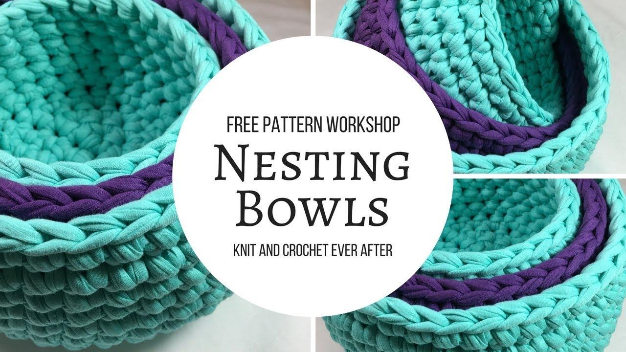 Nesting Bowls Free Pattern Workshop - YouTube