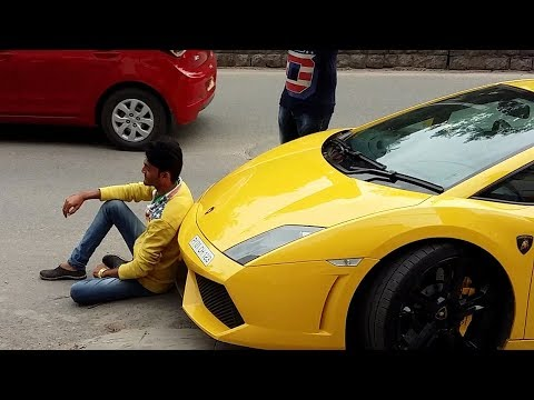 How Not To Treat A Lamborghini - SUPERCARS IN INDIA (Hyderabad)