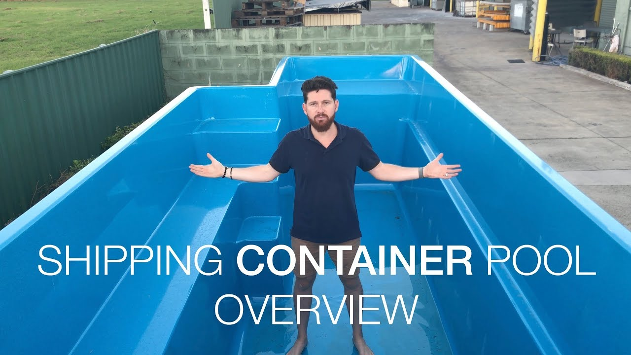 shipping container pool overview youtube