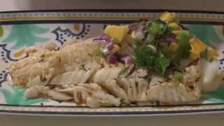 Grilled Cod with Mango Jalapeno Salsa Recipe