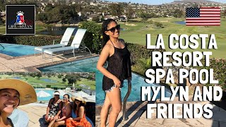 LA COSTA RESORT SPA POOL MYLYN AND FRIENDS(Great day together at the resort in Carlsbad)