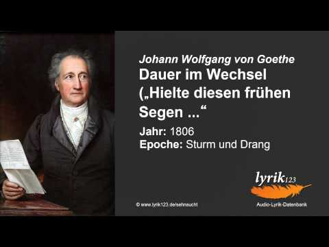 Johann Wolfgang von Goethe: Dauer im Wechsel (1806)