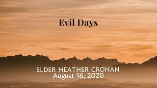 Evil Days   Aug  16